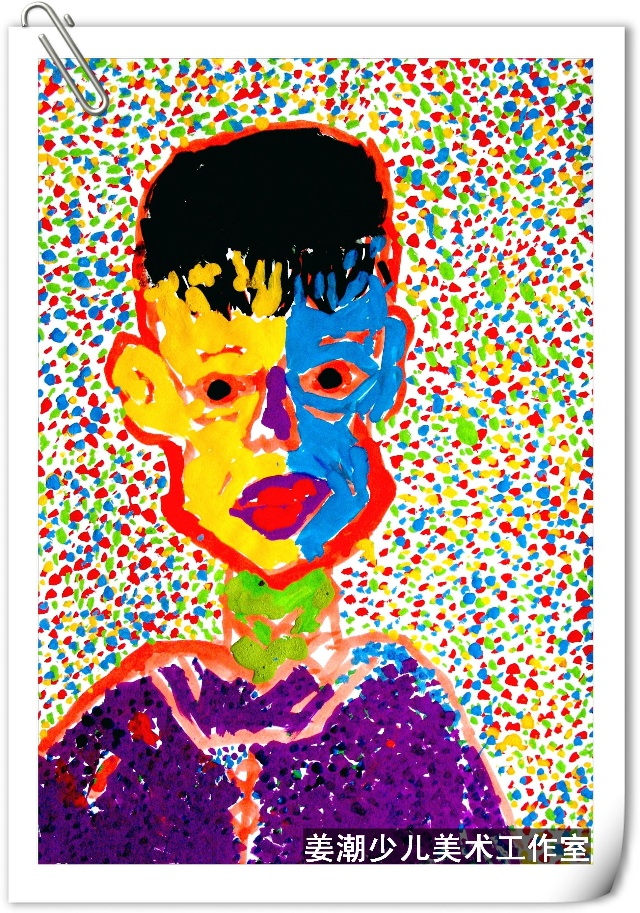 儿童创意水粉-----色彩人物写生-稚趣天然 姜潮少儿室