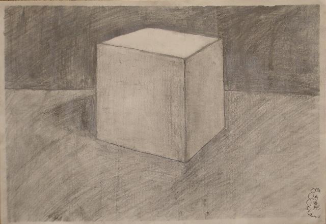 四幅素描 三角形 正方形