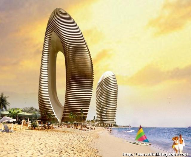 详细展示了凤凰岛规划建设的七大项目:中国第一座海上七星级酒店,跻身