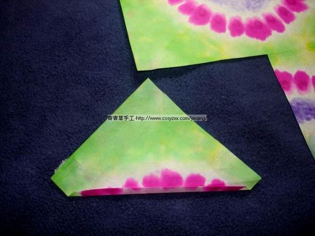 染纸折叠方法步骤图