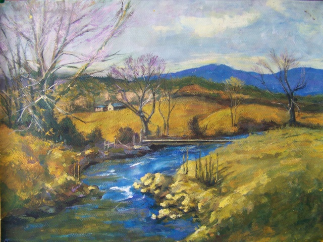 作业画种有些是油画,有些是水粉或水彩,有临摹也有写生.