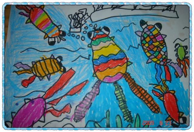 动物脚印联想儿童画