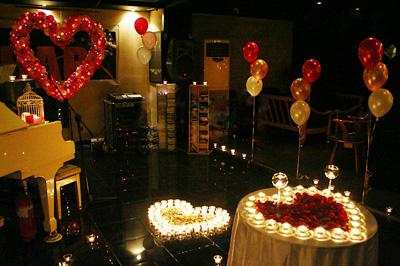 求婚策划之浪漫烛光晚宴图片