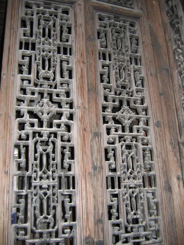手绘徽派建筑墙体