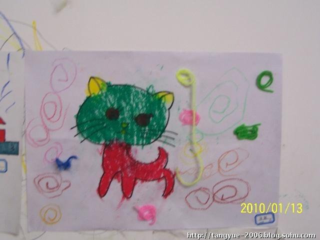 简单儿童画画小猫咪字几画