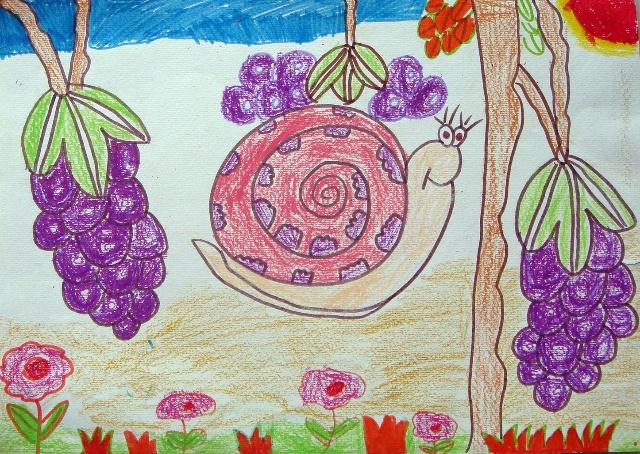 小班幼儿绘画蜗牛