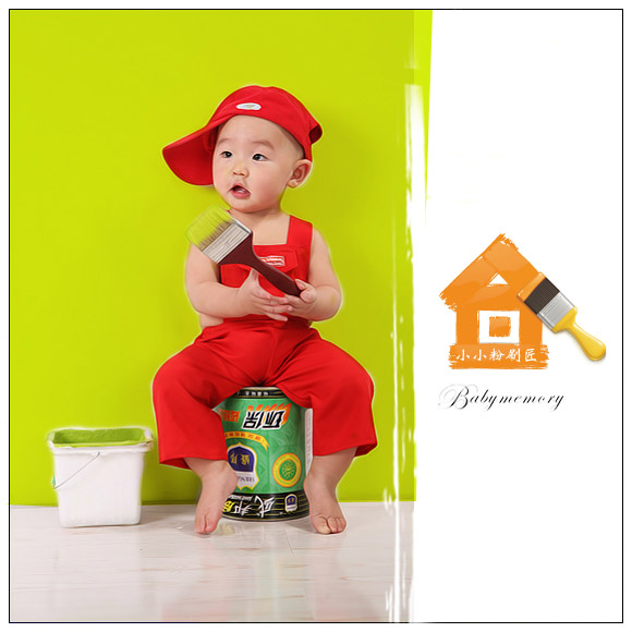 粉刷房子兒童畫