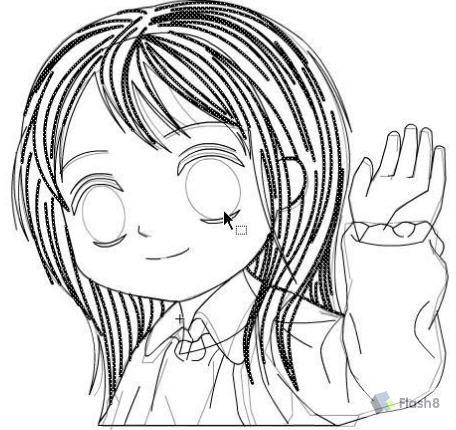 【flash手绘实例】卡通女孩
