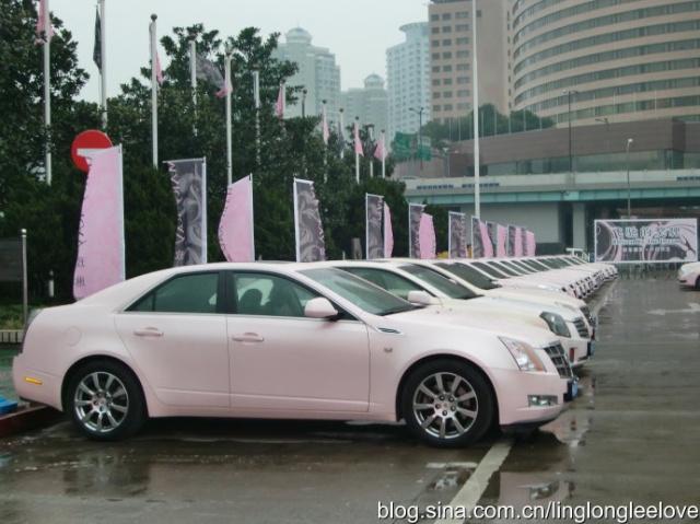 玫琳凯的粉红色凯迪拉克轿车一直被认为是成功的终极标志高清图片